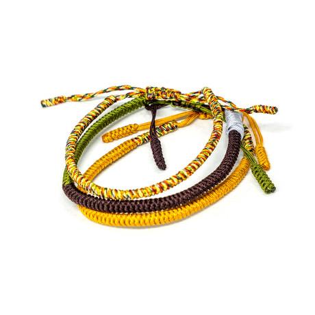 Jean Claude Jewelry // Handmade Tibetan Buddha Bracelet // Set of 3 // Multicolor