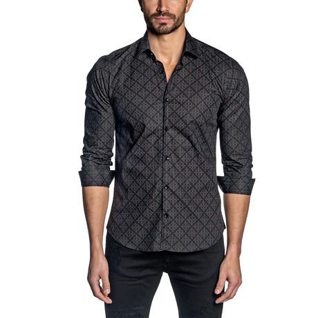 Print Long Sleeve Shirt // Black (S)