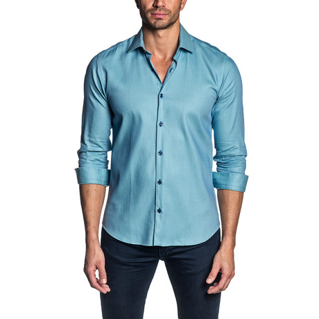 Long-Sleeve Shirt // Teal (S)