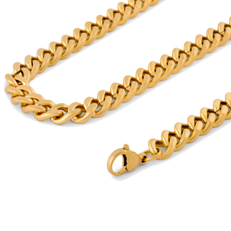 "Fibra Chain // Gold Finish // 9mm (15.75"")"