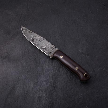 Maroon Hunting Knife // 04