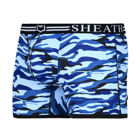 Sheath Camouflage Dual Pouch Boxer Brief // Ocean Blue (Small)