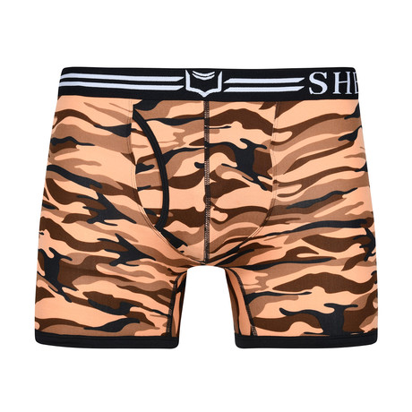 Sheath Camouflage Dual Pouch Boxer Brief // Desert Red (Small)