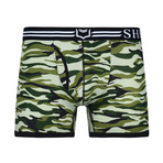 Sheath Camouflage Dual Pouch Boxer Brief // Forest Green (Small)