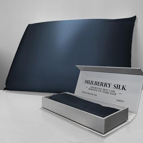 Mulberry Silk Pillowcase // Navy Blue (Queen)