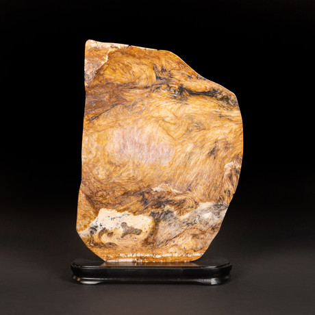 """Large Agate Plate on Wooden Stand // 17.5"""""""