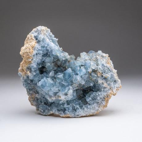 Blue Celestite Cluster v.2