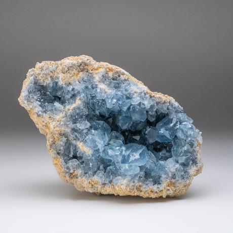 Blue Celestite Cluster v.1