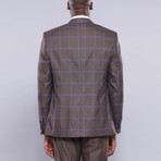 Alfred 3-Piece Slim Fit Suit // Brown (Euro: 42)