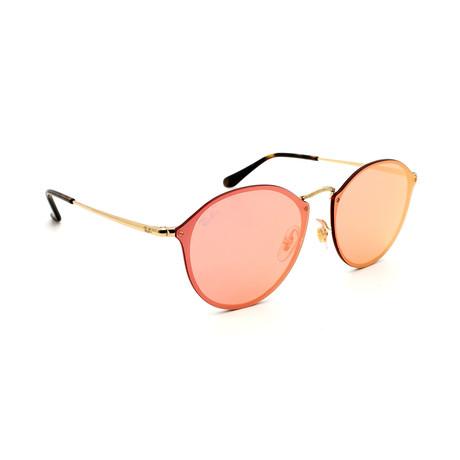 Unisex RB3574N-1-E4 Blaze Round Sunglasses // Gold + Orange
