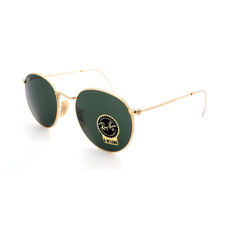 Unisex RB3447-001 Round Sunglasses // Gold (Size 50-21-145)