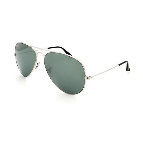Unisex RB3025-3-40 Aviator Sunglasses II // Silver