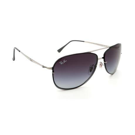 Ray-Ban // Men's RB8052-159-8G Aviator Sunglasses // Silver + Gray Gradient + Black