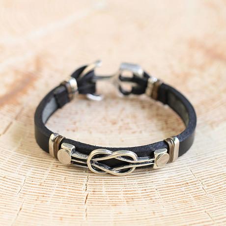 Leather + Knot Bracelet // Antique Silver (Antique Silver)