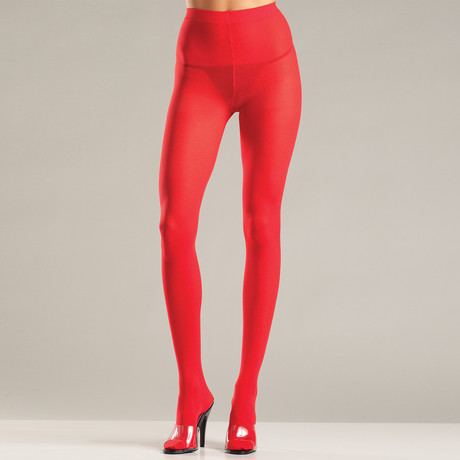 Opaque Pantyhose // Red (One Size)