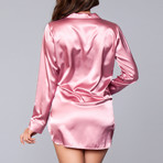 Kimberly Satin Sleepshirt // Dusty Rose (1X-Large/2X-Large)
