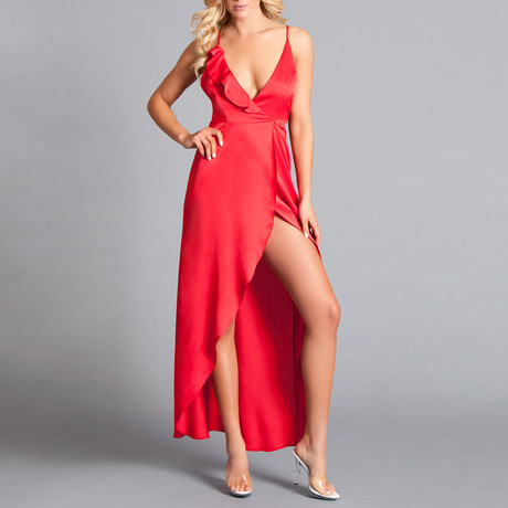 Asia Dress // Red (Small)