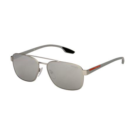 Unisex Sunglasses // Silver + Silver