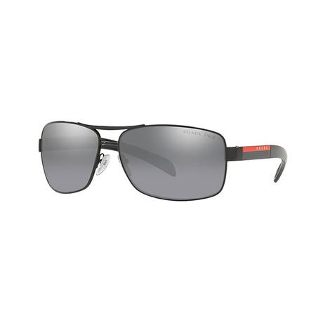 Unisex Sunglasses // Black + Gray Mirror