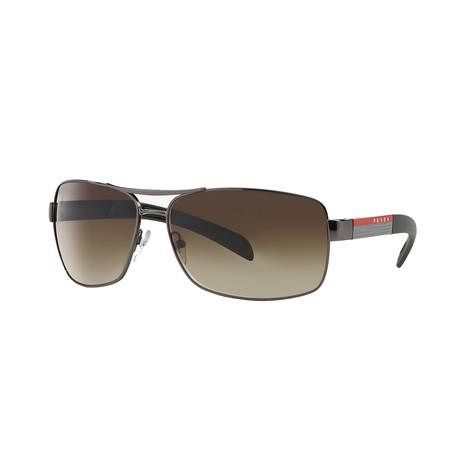 Unisex Sunglasses // Gunmetal + Brown