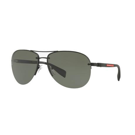 Unisex Sunglasses V1 // Black + Green