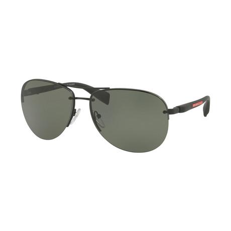 Unisex Sunglasses V2 // Black + Green