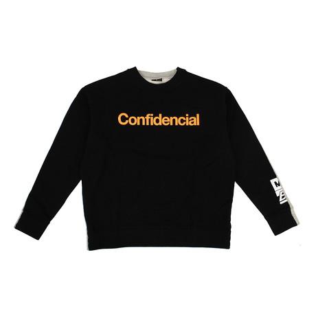 "Men's ""Confidential"" Sweatshirt // Black + Gray (XXS)"
