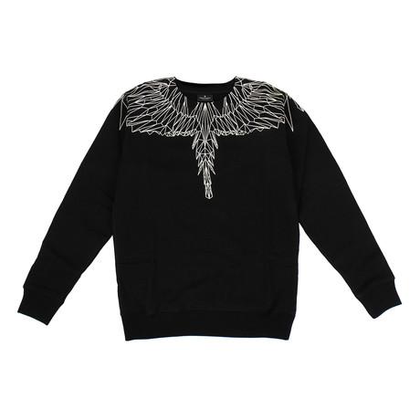 Men's Neon Wings Sweatshirt // Black + White (XXS)