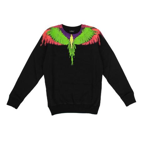 Men's Wings Sweatshirt // Black + Multicolor (XXS)