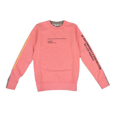 Women's Sweatshirt // Pink + Gray (XXS)