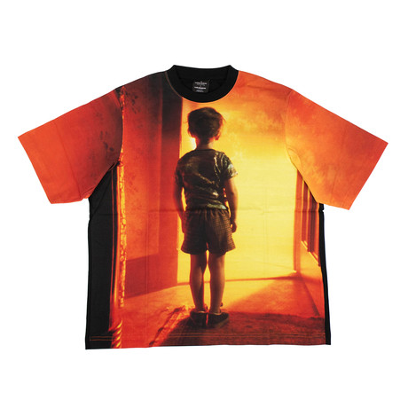 Men's 'Close Encounters' Boy T-Shirt // Black (XXS)