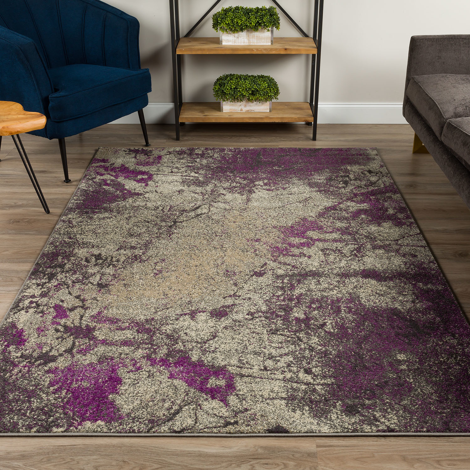 Nature S Abstract Area Rug Purple 3 X 5 Addison Rugs Touch Of Modern