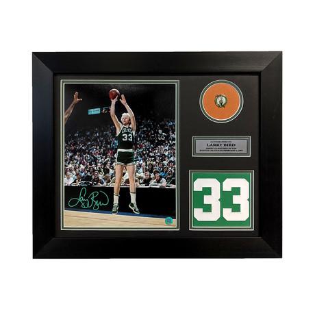Larry Bird // Boston Celtics // Signed Photo + Retired Number Frame