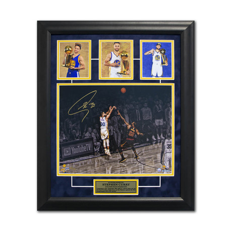 Steph Curry // Golden State Warriors // 3x Champion Signed + Framed