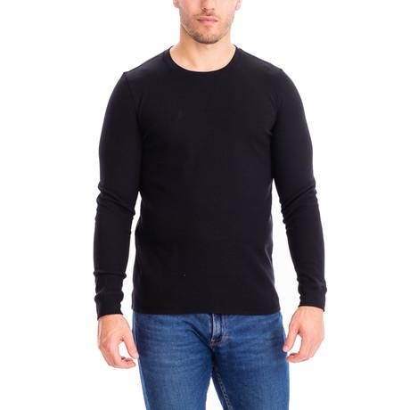 Thermal Long Sleeves Crew Neck // Black (S)