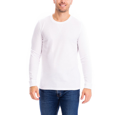 Thermal Long Sleeves Crew Neck // White (S)