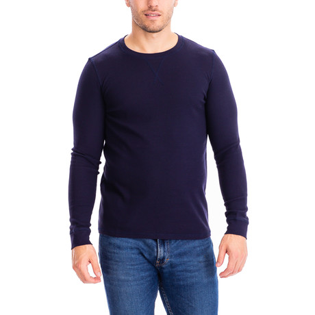 Thermal Long Sleeves Crew Neck // Navy (S)
