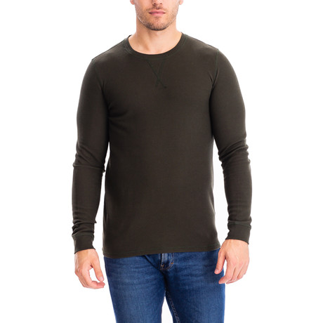 Thermal Long Sleeves Crew Neck // Olive (S)