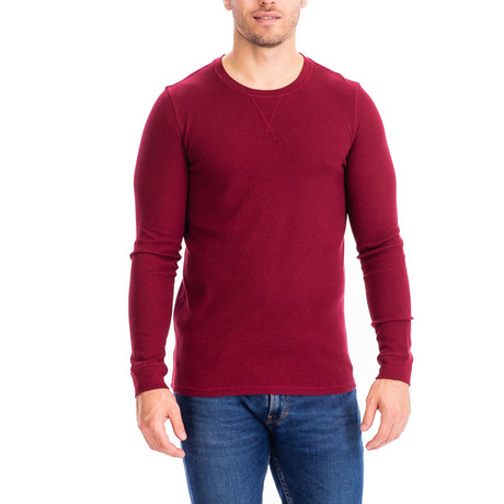 Thermal Long Sleeves Crew Neck // Red (S)