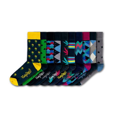 Men's Regular Socks Bundle // Assorted // 10 Pairs