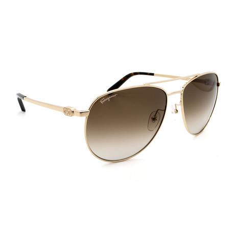 Unisex SF157S-717 Aviator Sunglasses // Gold + Gray Gradient
