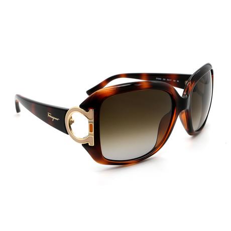 Women's SF666S-238 Sunglasses // Havana + Gold