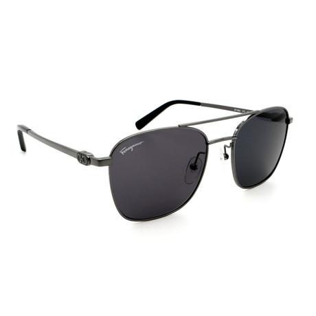 Men's SF158S-015 Aviator Sunglasses // Dark Gunmetal + Black