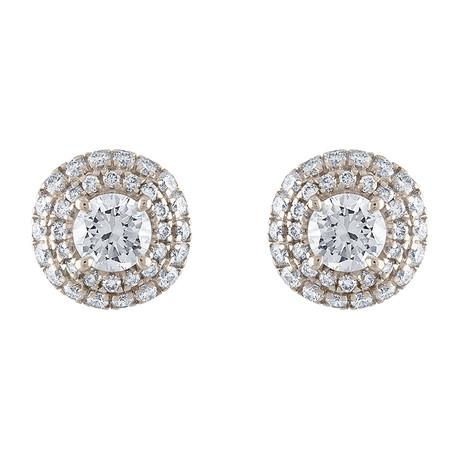 Estate 18k White Gold Diamond Earrings II // Pre-Owned