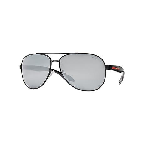 Unisex Sunglasses // Black + Silver