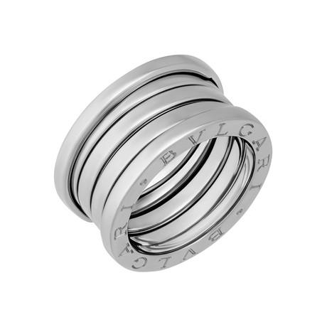 Bulgari 18k White Gold B.Zero1 4 Band Ring // Ring Size: 6 // Pre-Owned
