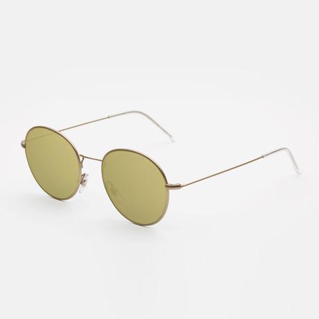 Unisex Wire Sunglasses // Gold