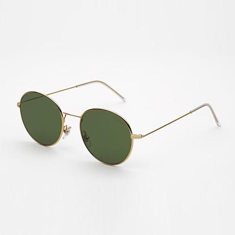 Unisex Wire Sunglasses // Green