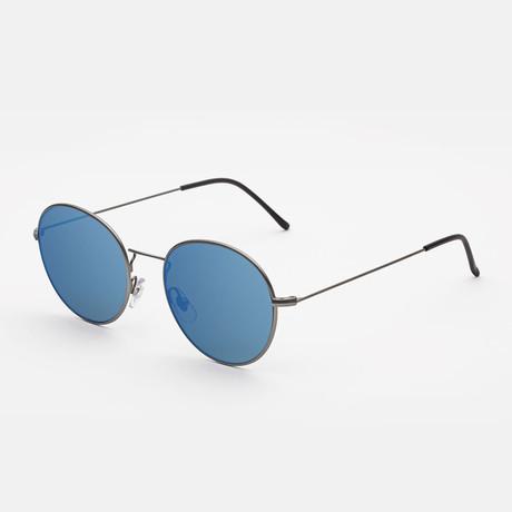 Unisex Wire Sunglasses // Blue