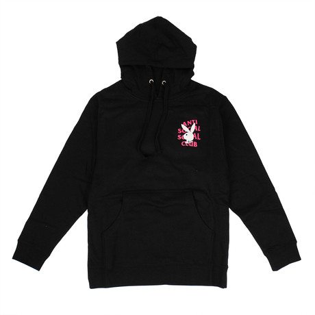 Playboy Remix 'ASSC' Hooded Sweatshirt // Black (S)